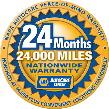 NAPA 24 Month / 24000 Miles Warranty | Pace Tire Pros